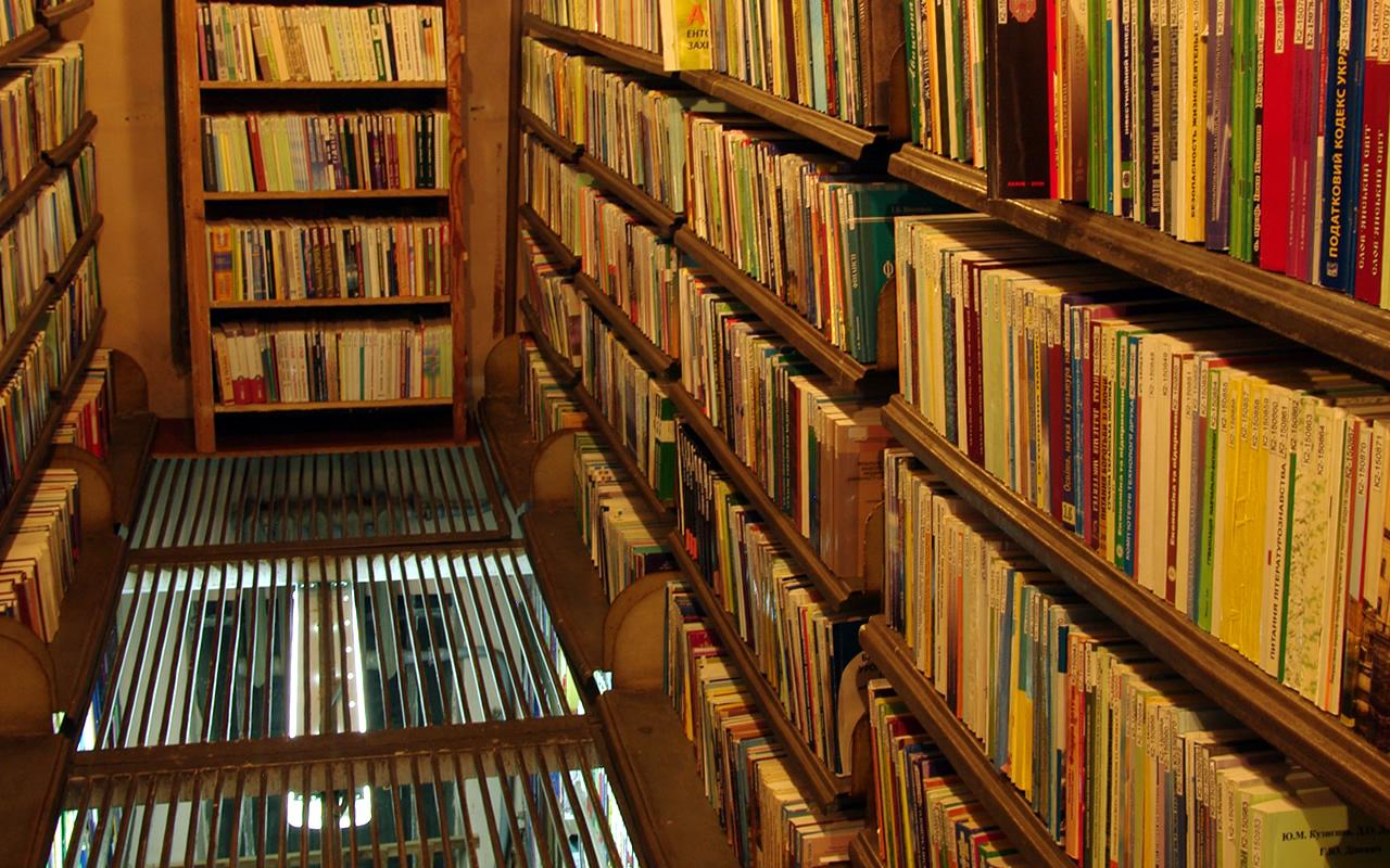 Книгосховище. Фрагмент «Бекетівського» книгосховища. Сучасний вигляд
