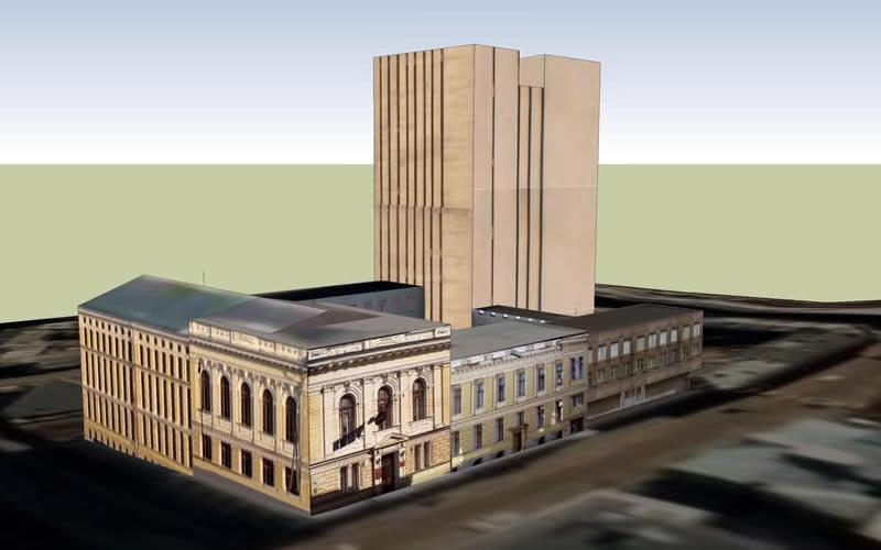 Макет бібліотечного комплексу